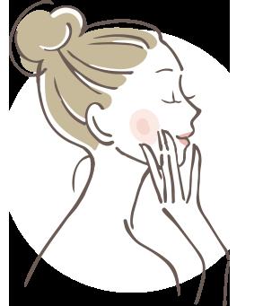女性のイラスト横顔